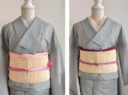 同じ着物で帯を変えて