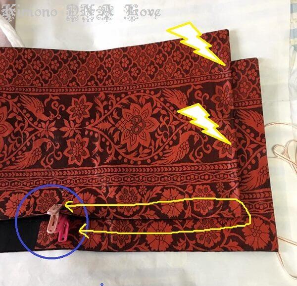 袋帯たたみ方折り方