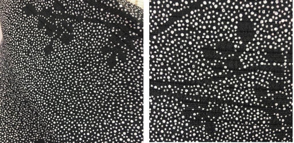 洗える絽 黒大小アラレ03
